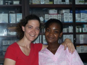 Piedad and me at the Clinic